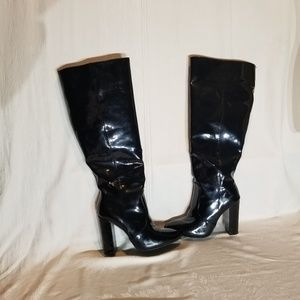 JustFab black heeled boots